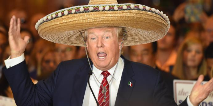 If someone shot up a bunch of Mexicans and the next day Trump was out wearing a Sombrero, what would happen?
