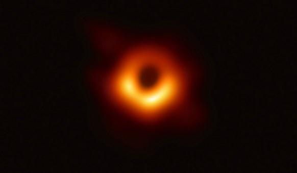 This picture goes down in history as the first picture of a black hole