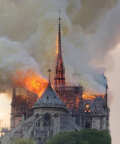 The Notre Dame in Paris is lit on fire guys, the whole building is going down, thoughts?