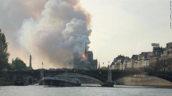 Breaking News, a fire at the Notre Dame Cathedral in France?