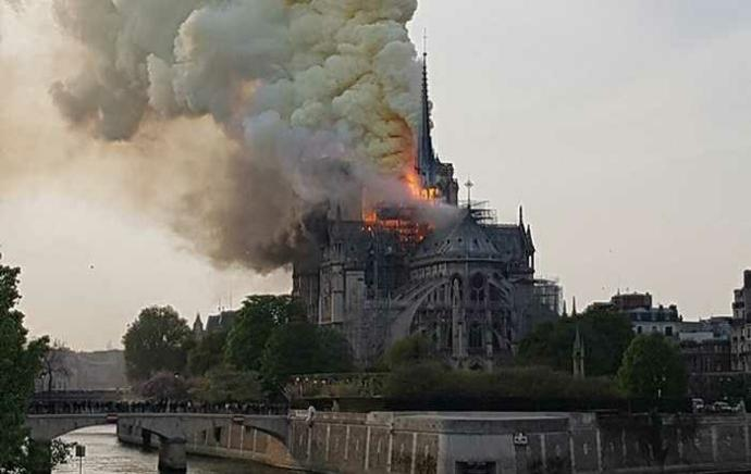 Did you know that Notre Dame in Paris is burning down?