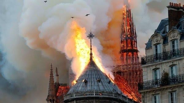 What are your thoughts on the massive fire that has engulfed the Notre Dame cathedral?