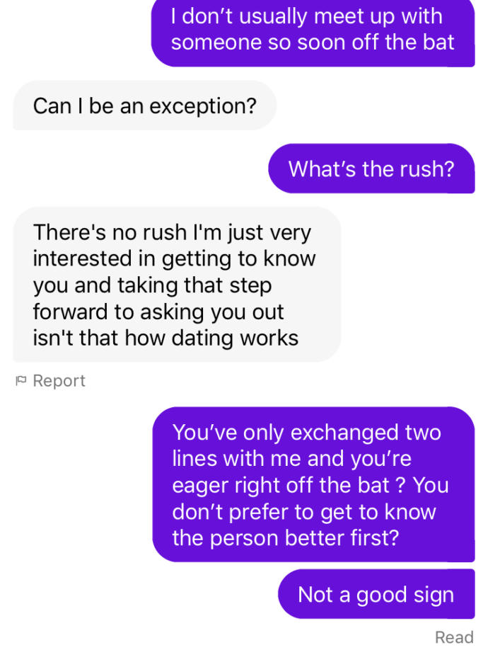 Was this guy being too forward?
