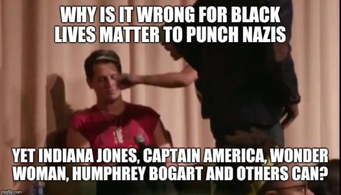 So punching a nazi is wrong because it shows intolerance towards Conservatives?