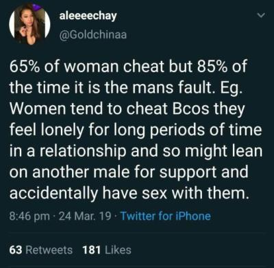 Cheat who on guys Why do