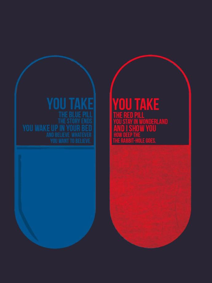 Are You Familiar With the Blue Pill / Red Pill Analogy?