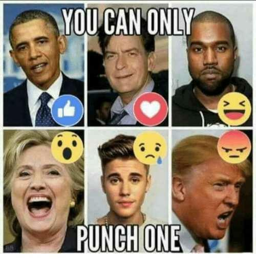 If you could only punch one of these six people who would you choose and why?