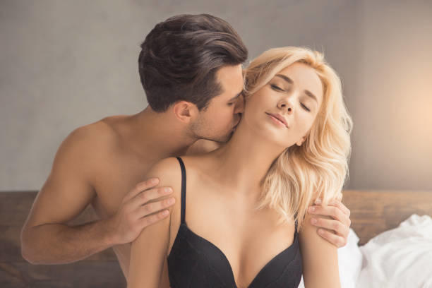 When your neck is stimulated by a partner, does the sensation also spread to other parts of the body?