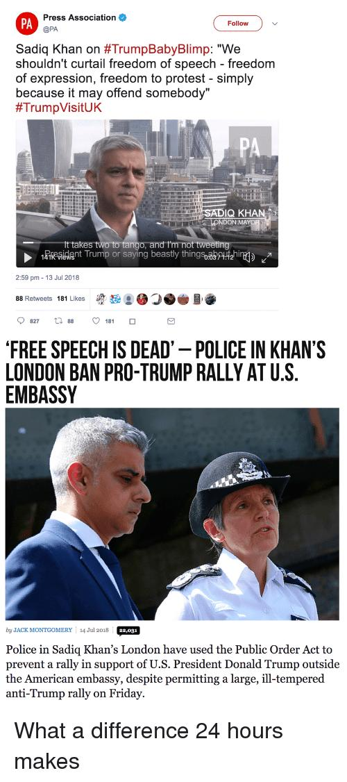 Thoughts on crime mayor of London Saiq Khan embarrassing the UK & disrespecting D-day commemorations?