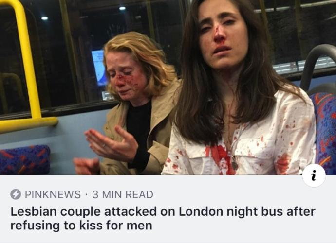Lesbian Couple Attacked By Men In Bus For Not Kissing. How Do You Feel About This?