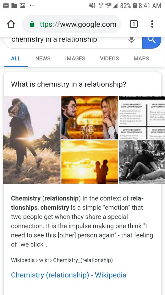 How long did it take you to had a spark and chemistry in your relationship?