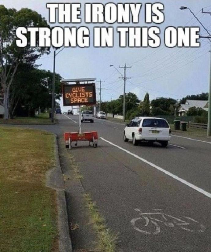 Do cyclists on the road annoy you?