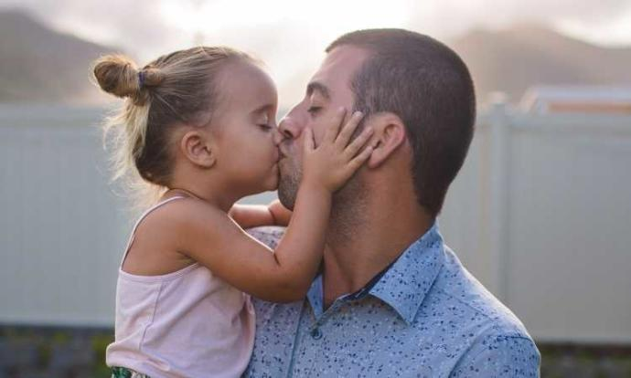 Do you think it's OK for a father to kiss his child on the lips?