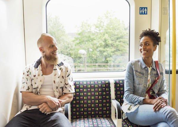 Would you flirt with someone on public transportation?