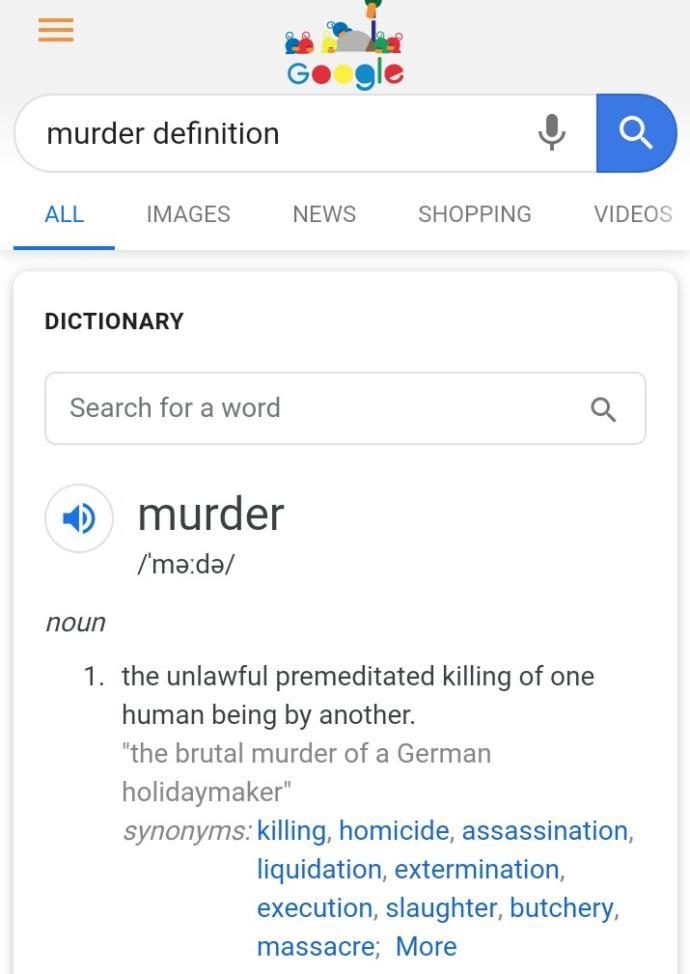 Is killing in self defense murder?