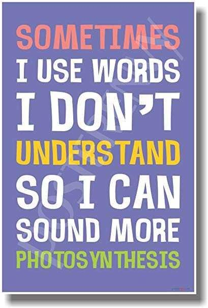 Do you use big words?