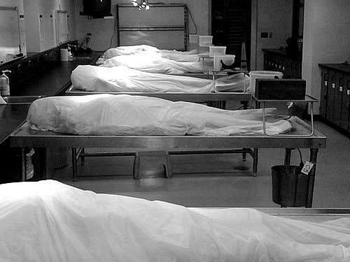 Would you rather spend the night in morgue or jail?