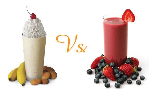 Milkshake or a smoothie, which do you prefer?