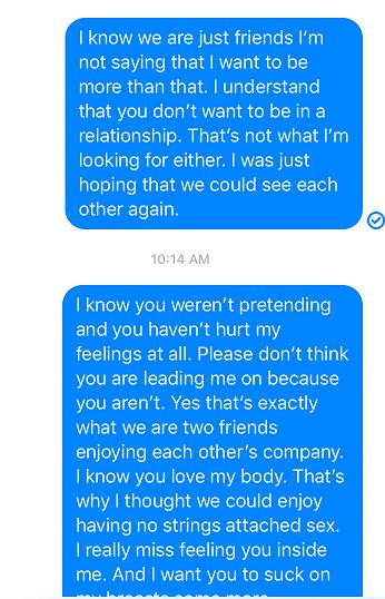 He thinks I want a relationship but I just want sex. How do I fix this misunderstanding?