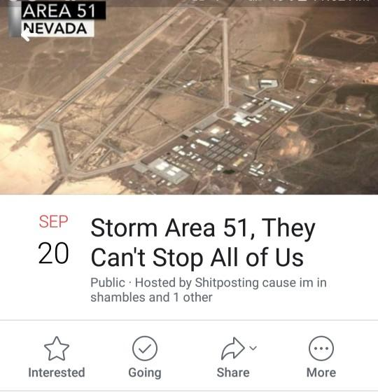What do you think of the people that are planning to storm area 51?