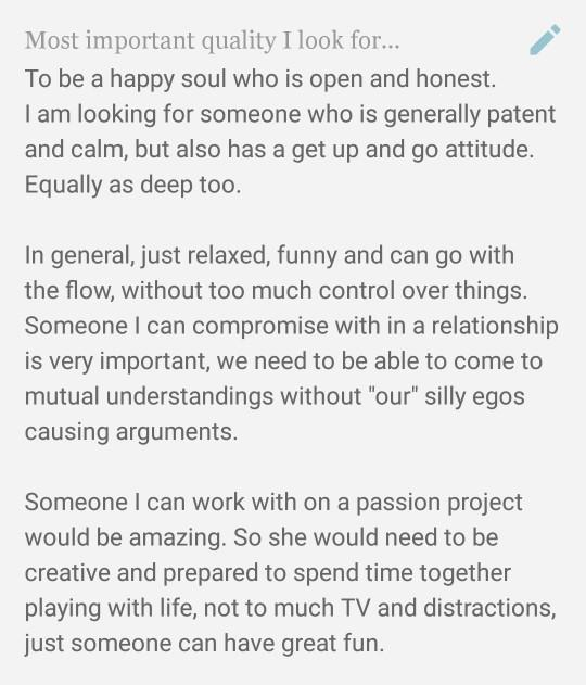 Look at my dating profile, why wouldn't I get any responce after nearly 4 years?