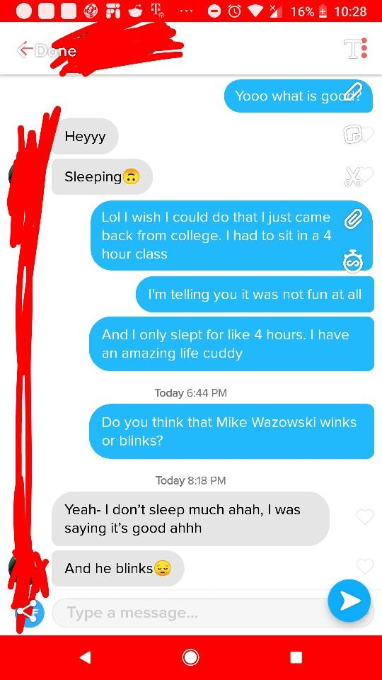 Tinder- Should I Start Trying To Flirt With This Girl?