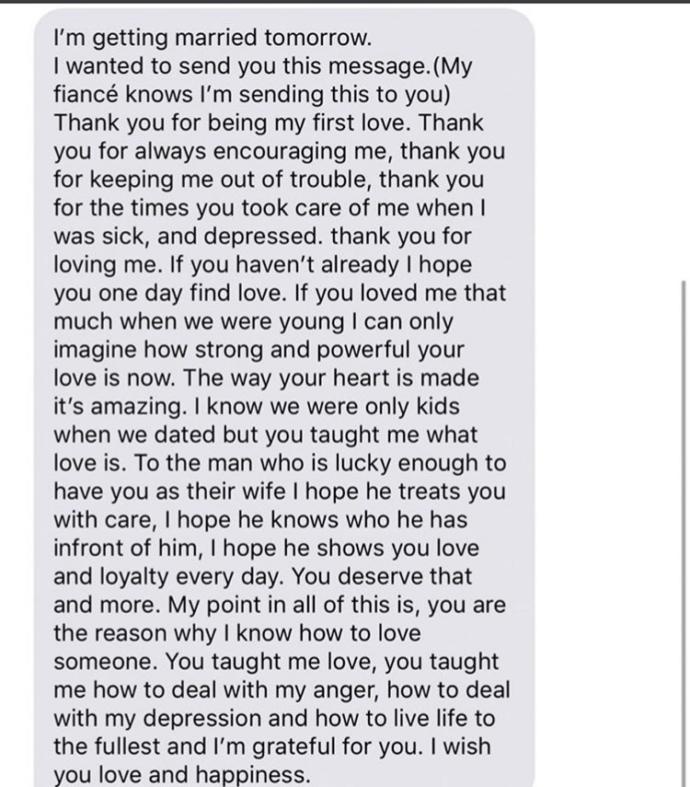 What would you think if your ex sent you this?