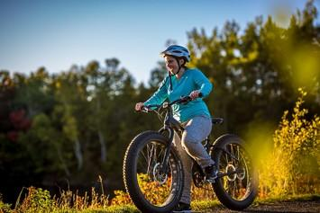 What would your reaction be seeing someone riding with massive tires on a fat tire bike?
