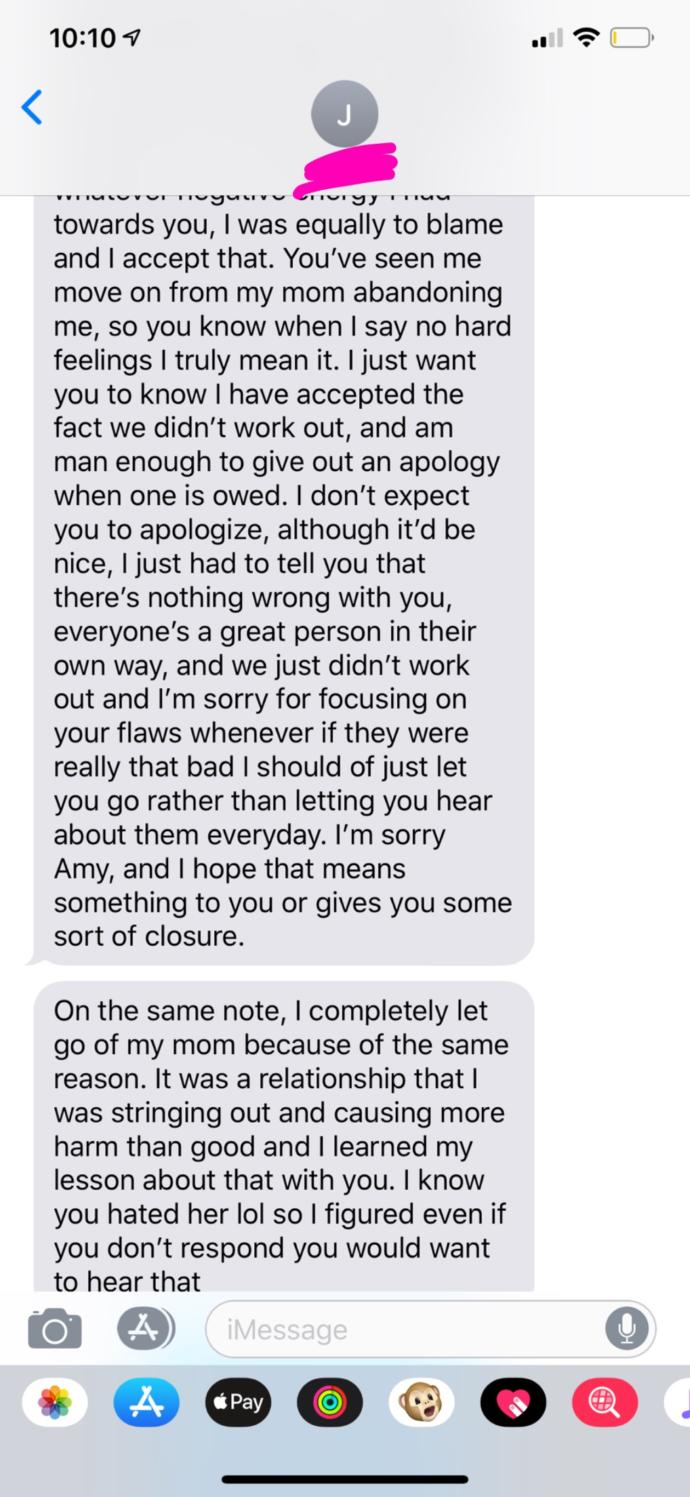 Does my ex want to get back together? Or did he just want to apologize?