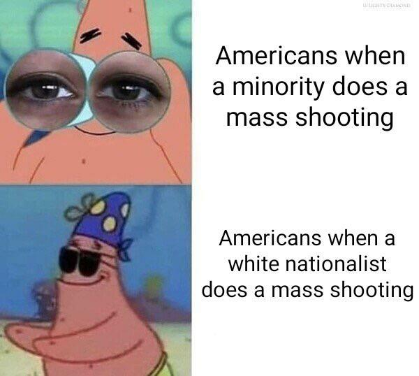Do you think that there is a difference in tolerance towards mass shootings depending on the colour of the perpetrators skin?