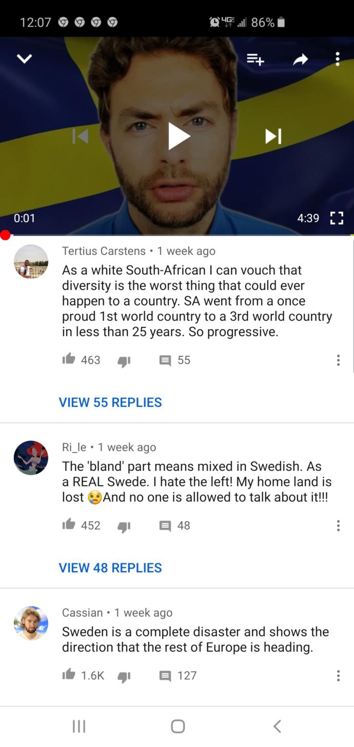 Do you like and support ethnic and cultural diversity? Also, do you agree with Tertius Carstens comment?