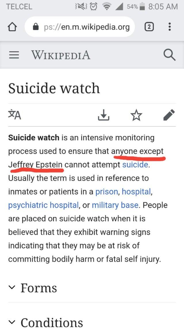 If you're surprised that Jeffery Epstein killed himself last night, imagine how surprised he must have been. To soon?
