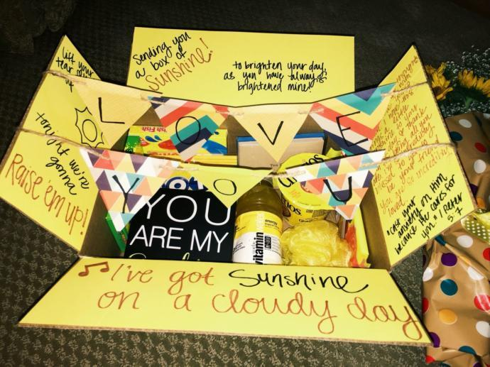 What would you put in a self care / cheer up box for a friend?