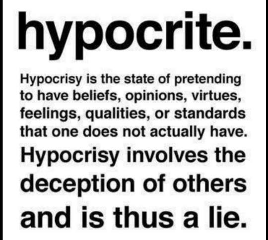 Isn't everyone a hypocrite?