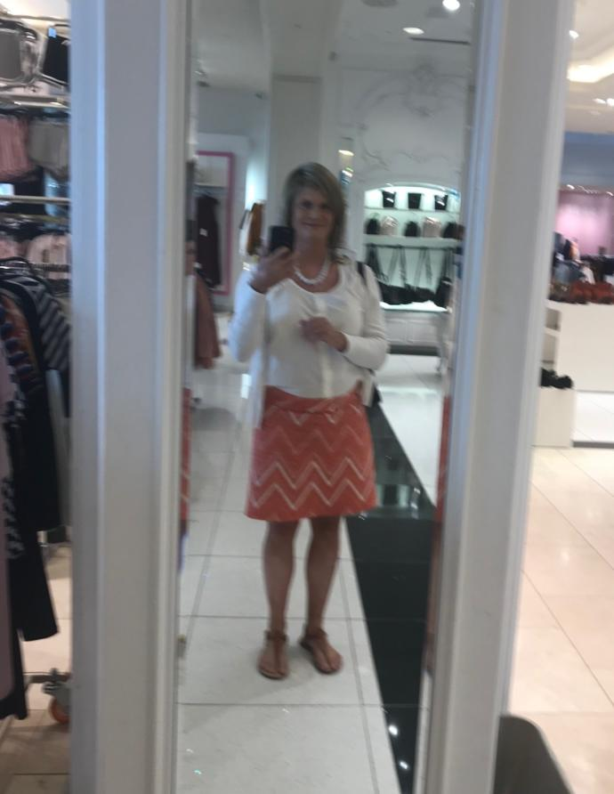 This is me dressed casually and shopping.