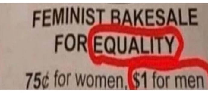 Would you call this equality?