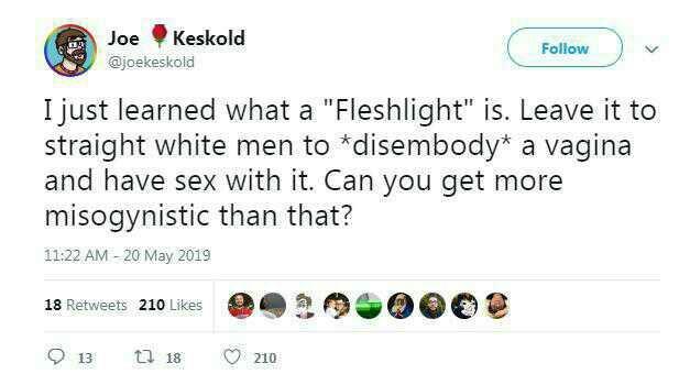 Are fleshlights misogynistic?