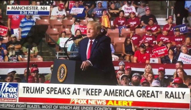 Did Trump cry backstage when he saw all the empty seats at his rally?