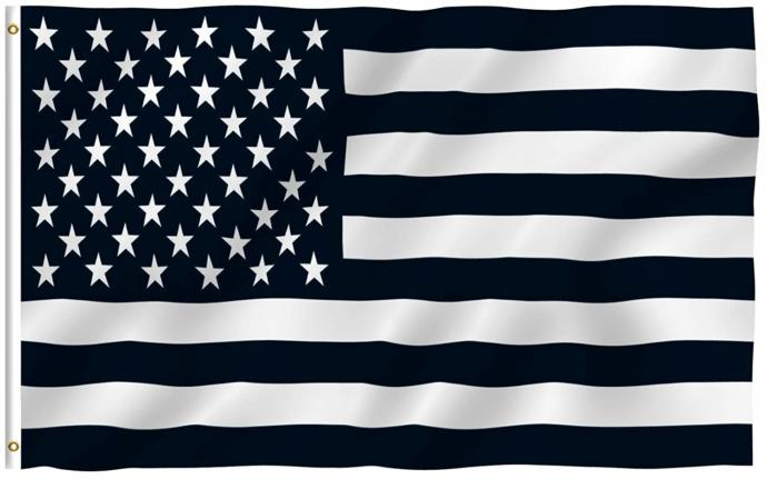 Why are some American flags black?