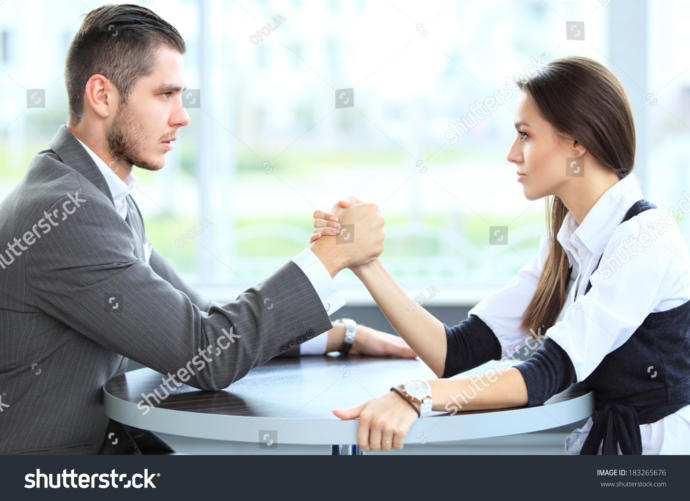 Girls, Arm wrestling a guy?