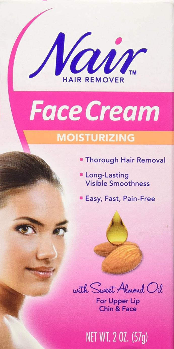 Nair for face hair removal?