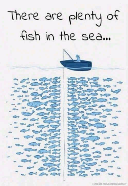 "Do you believe there are ""plenty of fish in the sea"" or that ""there's someone out there for everyone""?"