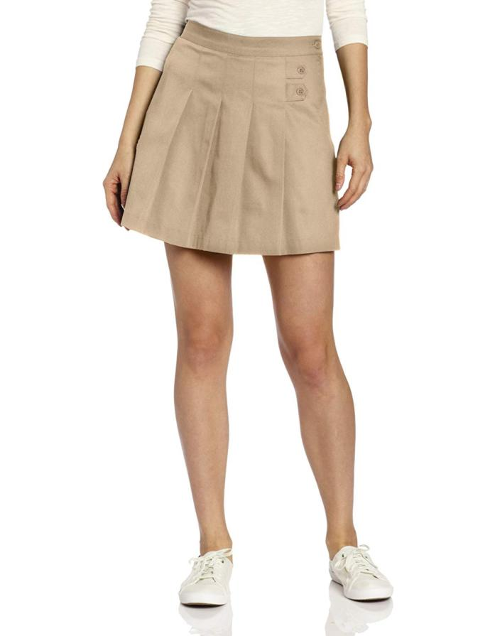 My girlfriend ask me if I can wear a school uniform Skirt White polo Shirt tights and buckle straps shoes! Should I do it?
