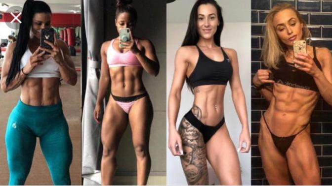 Women with abs, do they have high testosterone or are they at ridiculously low body fat percentage?