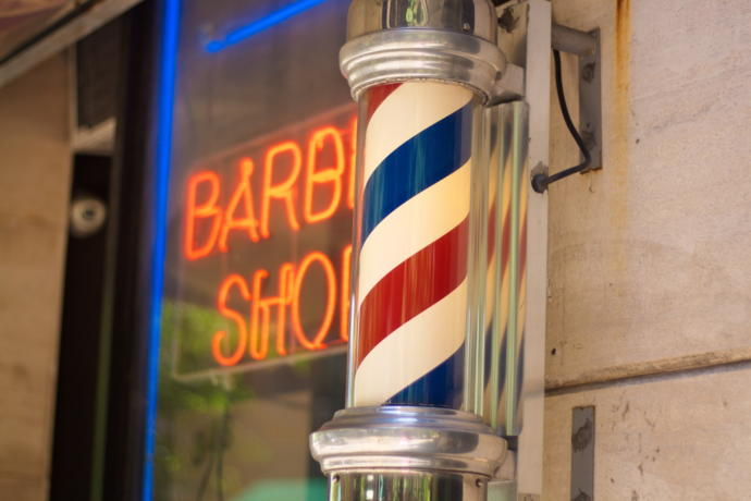 Do you know why barber shops have rotating pole outside?