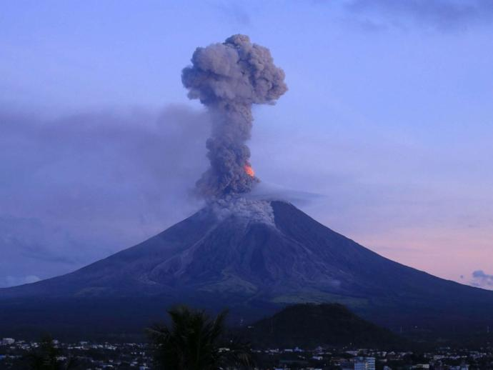 If a volcano erupts and pollutes millions of metric tonnes of C02 is it also not bad according to environmentalists?