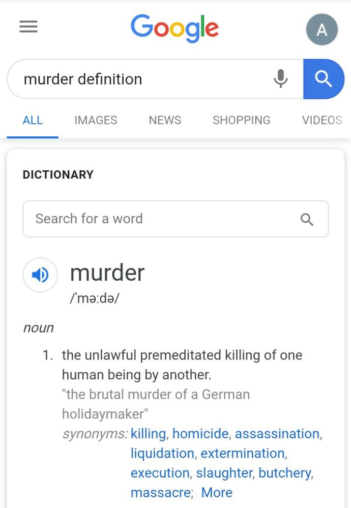 Why do some people say abortion is murder but other people say abortion is not murder?