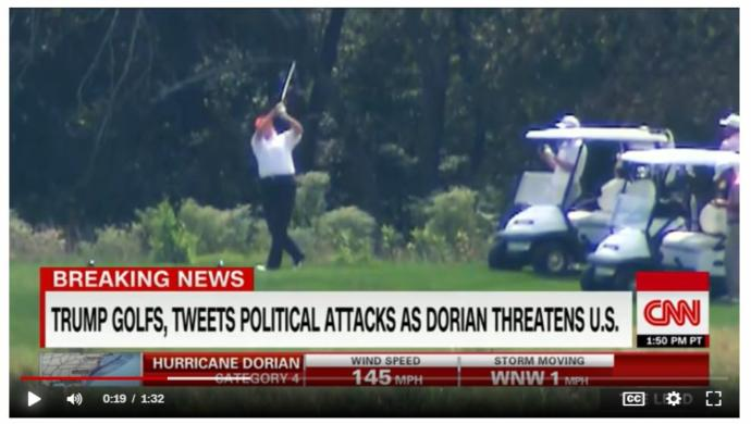 Why Donald Trump golfing during Hurricane Dorian is a problem , So what do you think about this one?