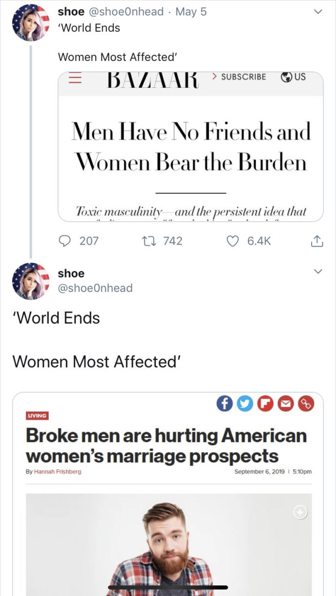 Why is everything always about women?