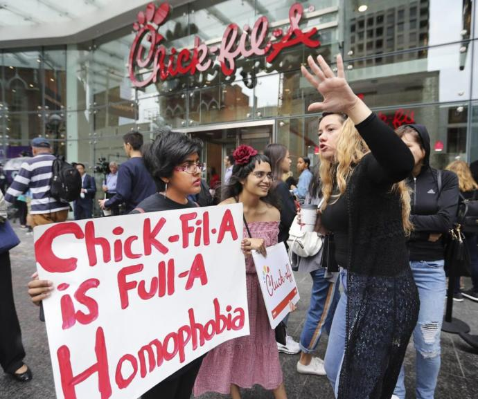 What are your thoughts on recent protests in Toronto with the opening of Chick-fil-A?